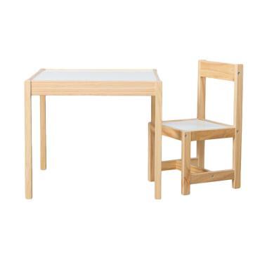 Benedetto Set Meja dan Kursi Anak - Putih