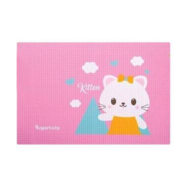 Sugar Baby Organic Healthy Cot Sheet Kitty Perlak Bayi - Pink