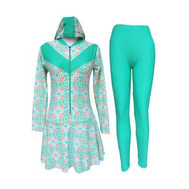 Rainy Collections Motif Batik Bunga Baju Renang Wanita Muslim
