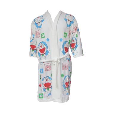 Rainy Collections Karakter Doraemon Handuk Kimono Anak - Putih