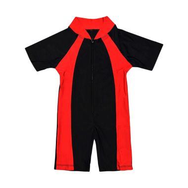 Nice Baby Baju Renang Polos Anak - Red Black