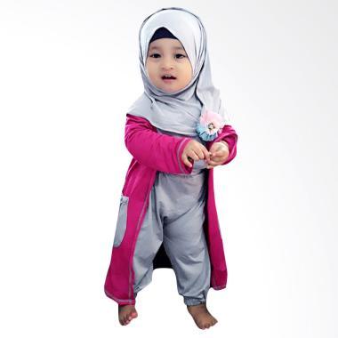 Elbi Gisela Set Baju Muslim Anak Perempuan - Pink 9307ffabfe
