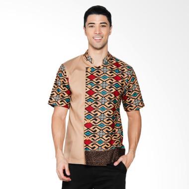 Chef Series Onyx Batik Tangan Pendek Baju Koki - Krem [Size L]