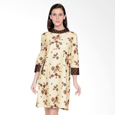 A&D Fashion MS 1013 Ladies Batik Dress - Cream