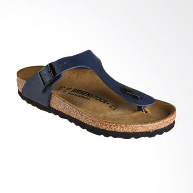 Birkenstock Gizeh 143621 Sandal Wanita - Blue / Birko Blue