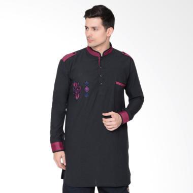 Zayidan Baju Muslim Gamis Sufyan – Hitam