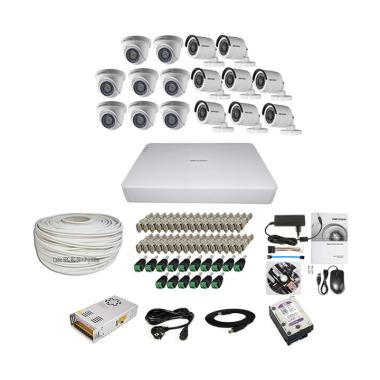 harga Hikvision THD 7116 16CH Paket Lengkap A CCTV [8 In + 8 Out/ 2MP/ 4TB/ 300 m] Blibli.com