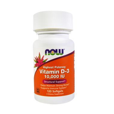 Now Foods High Potency Vitamin D 3 10000 IU Suplemen 120 Softgels