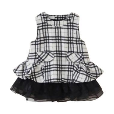 VERINA BABY Kotak Dress Anak - White Black