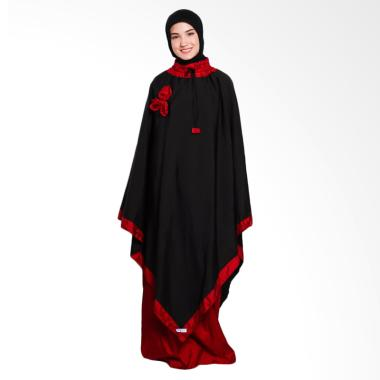 Makinayu MMA0014 Mukena Poncho - Black Red