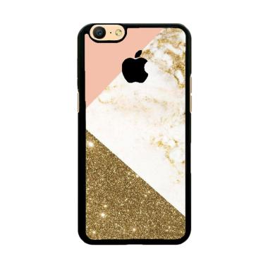 Flazzstore Pink And Gold Marble Apple Logo Z4824 Custom Casing for Oppo A57 or A39