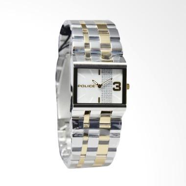 Police PL.10501BST-28MA Line Crystal Jam Tangan Wanita -  Silver Gold