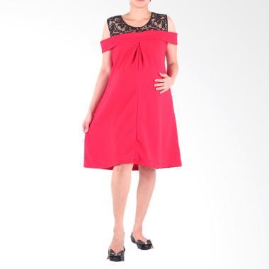 HMILL D1421 Dress Baju Hamil - Merah