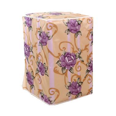 Homestuff Bunga Type A Cover Mesin Cuci Buka Atas - Ungu