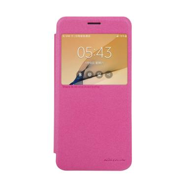 Nillkin Sparkle Leather Flip Cover  ...  Prime or On7 2016 - Pink