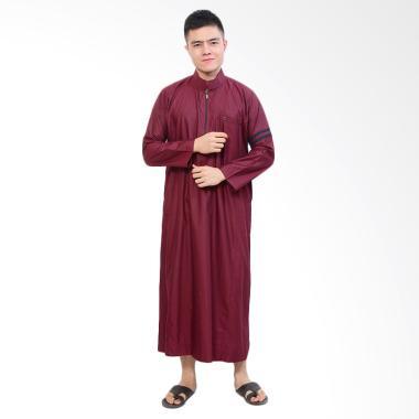 Jfashion Nabawi Jubah Tangan Panjang Gamis Muslim Pria - Maroon