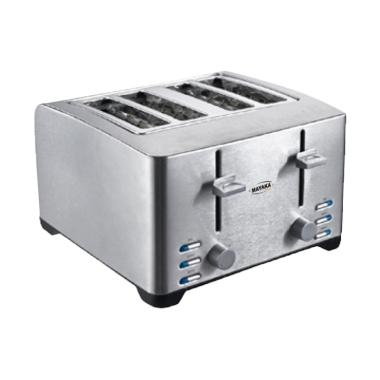 Mayaka Premium TR-3012 TF Toaster Pemanggang Roti - Silver [4 Slot]