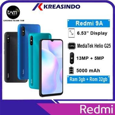 harga Xiaomi Redmi 9A 3/32 Ram 3GB Internal 32GB Garansi Resmi TAM abu-abu Blibli.com