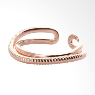 Cocoa Jewelry Whisper Love Cincin - Rose Gold