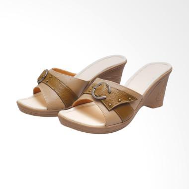 Syaqinah 162 Sandal Heels Wanita - Cokelat