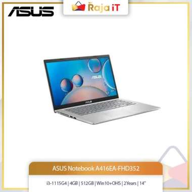 harga ASUS Notebook A416EA-FHD352 (i3-1115G4/4GB/512GB/Win10+OHS/2Years/14