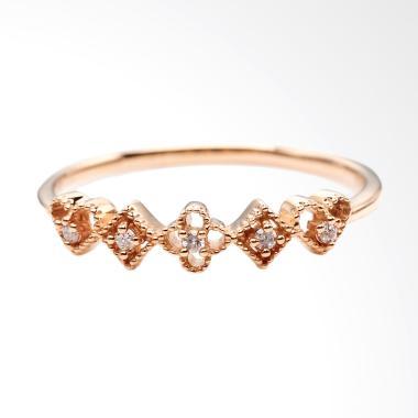 Tiaria BlackJack Ring Perhiasan Cincin Tunangan Emas dan Berlian [18K]