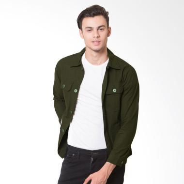 Oliveinch Merlin Engineering Jacket Pria - Green Army