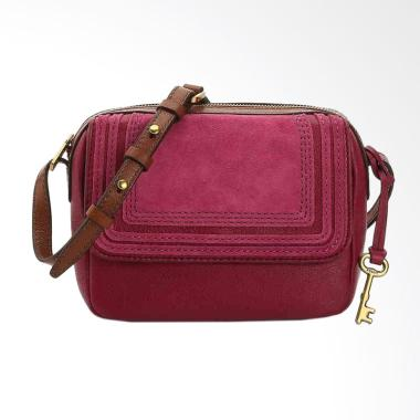Fossil ZB 7334672 Aria Small Crossbody Sling Bag - Rasberry Wine