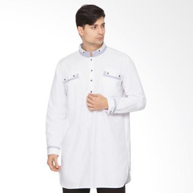 Zayidan Alhusain Baju Gamis Muslim Pria - Putih