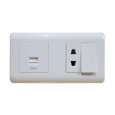 PHILIPS AgileStyle USB Saklar Stop Kontak Universal