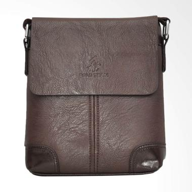 Polo Team Sling Bag Pria - Brown [A169-2/ Size Medium]