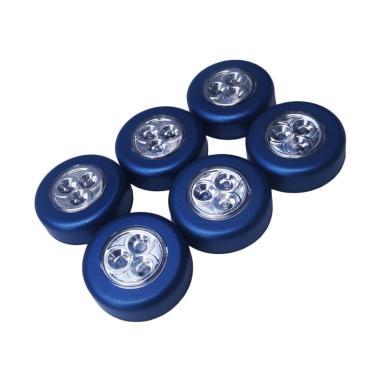 Yangunik Stick Touch Lamp Lampu Tempel LED - Biru [Paket 6 pcs]