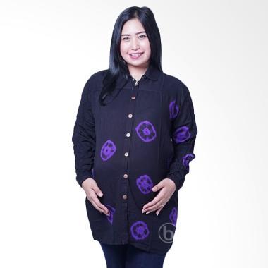 Mama Hamil BLJ 423 Batik Kelereng L ... l & Menyusui - Ungu Hitam