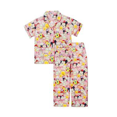 Papeterie PJ019 Tsum Tsum Setelan Baju Tidur Anak Perempuan