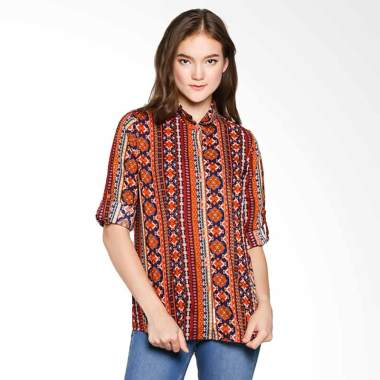Cressida KRKC.872704 Ladies Batik Shirt - Brown