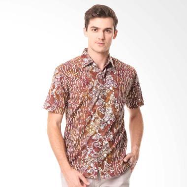 Batik Agrapana Cap Acintya Kemeja Pria - Coklat