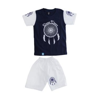 harga Elfs Shop Sablon Dream Chases Katun Setelan Baju dan Celana Anak Laki-Laki - Biru Dongker Blibli.com