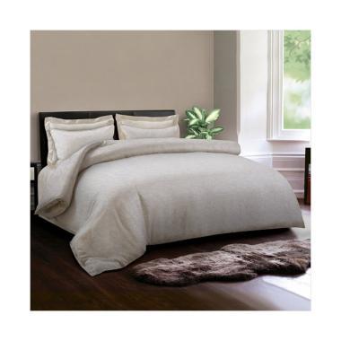 King Rabbit Motif Ukiran Bed Cover - Putih