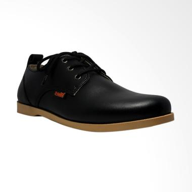 D-Island Shoes Casual Leather Loafers Sepatu Pria - Black