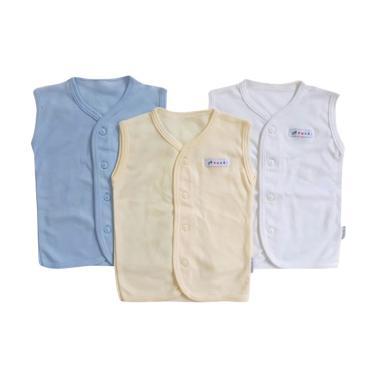Aruchi Kutungan Polos Baju Bayi Laki-laki [3 pcs]