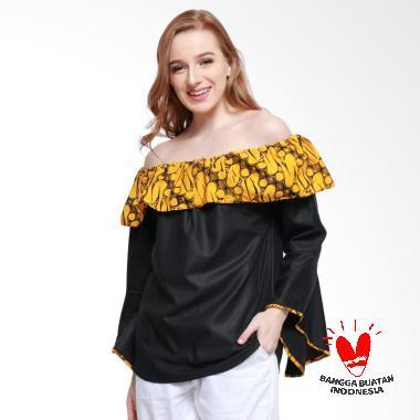 Batik Dirga Arthur Atasan Wanita - Yellow Black