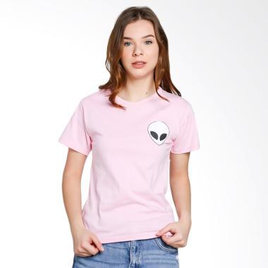 JCLOTHES Kaos Wanita Tumblr Tee Branded Alien - Pink