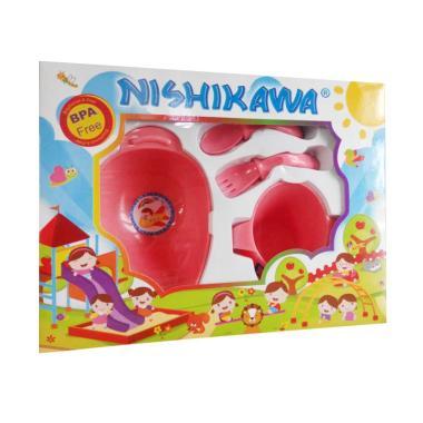 harga Nishikawa 8321 Baby Feeding Set Peralatan Makan - Pink Blibli.com