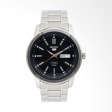 Seiko 5 Automatic Stainless Steel Jam Tangan Pria - Black [SNKM89K1]