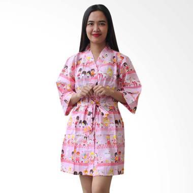 Aily BT026 Motif Hello Kitty Kimono ...  Baju Tidur Wanita - Pink