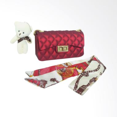 OEM Jelly Matte Mini Tas Wanita - Merah Marun
