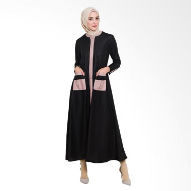 Allev Mufliha Abaya Dress Muslim Wanita - Hitam