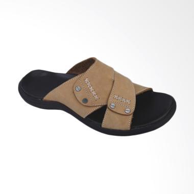Recommended Kulit Sandal Pria - Cream [643RCM]