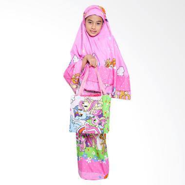 Zahra Kids Little Pony Polkadot Mukena Anak - Pink