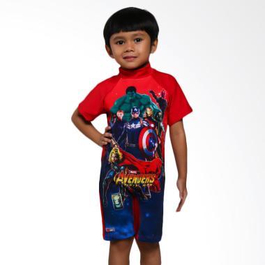 Ben's Collection Avengers Baju Renang Anak - Red